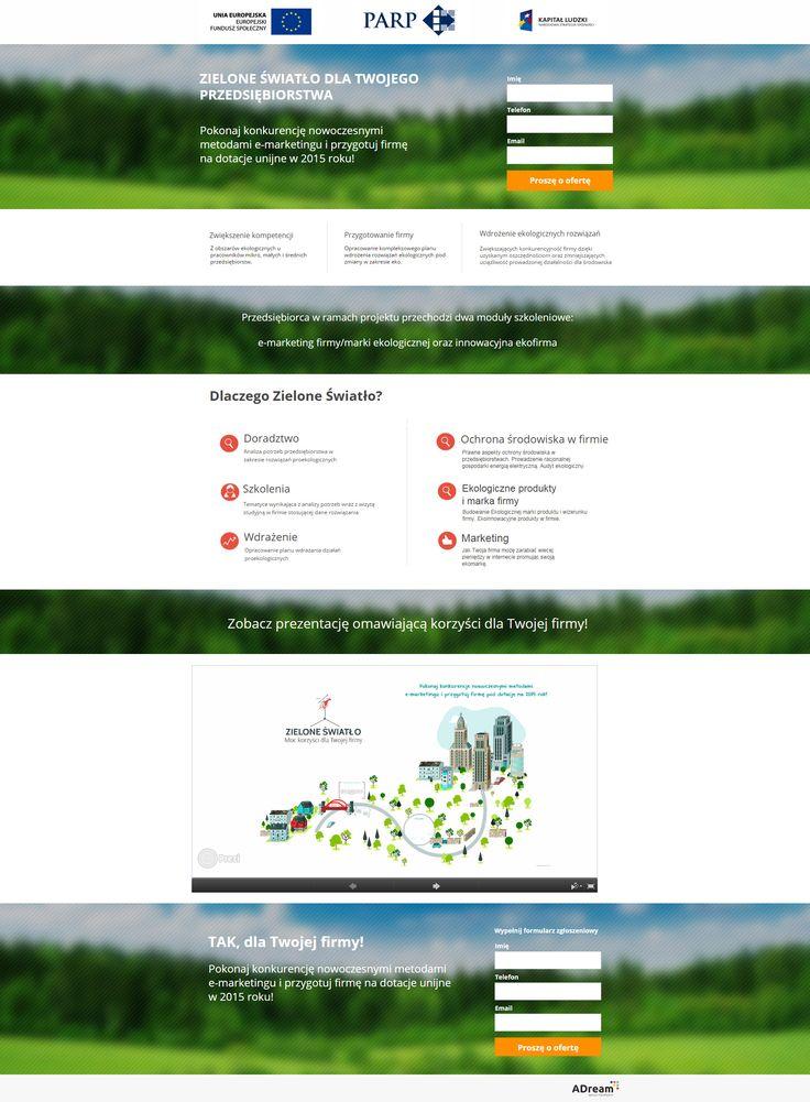 """Realizacja utowrzona na potrzeby promocji projektu """"Zielone światło"""" prowadzonego przez Towarzystwo Altum z Rzeszowa. Dodatkowo na stronie została umieszczona interaktywna prezentacja."""