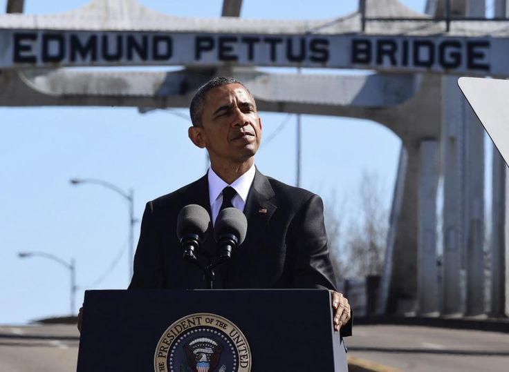 From President Barack Obama's speech yesterday at the Edmund Pettus Bridge in Selma, Ala., celebrating the 50th anniversary of the Selma to Montgomery civil rights marches: