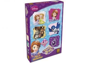 Jogo de Memória Princesinha Sofia Disney - Grow 54 Cartas
