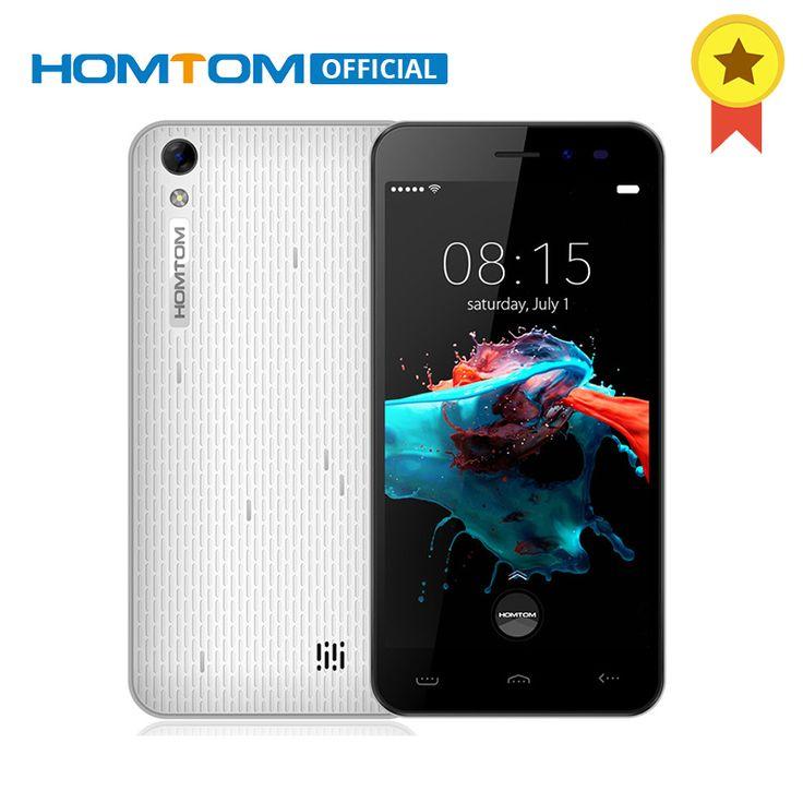 Original HOMTOM HT16 MTK6580 Quad A Core Android 6.0 1 GB RAM 8 GB ROM Smartphone 5.0 Pulgadas 1280×720 3000 mAh 3G WCDMA Móvil teléfono free shipping worldwide