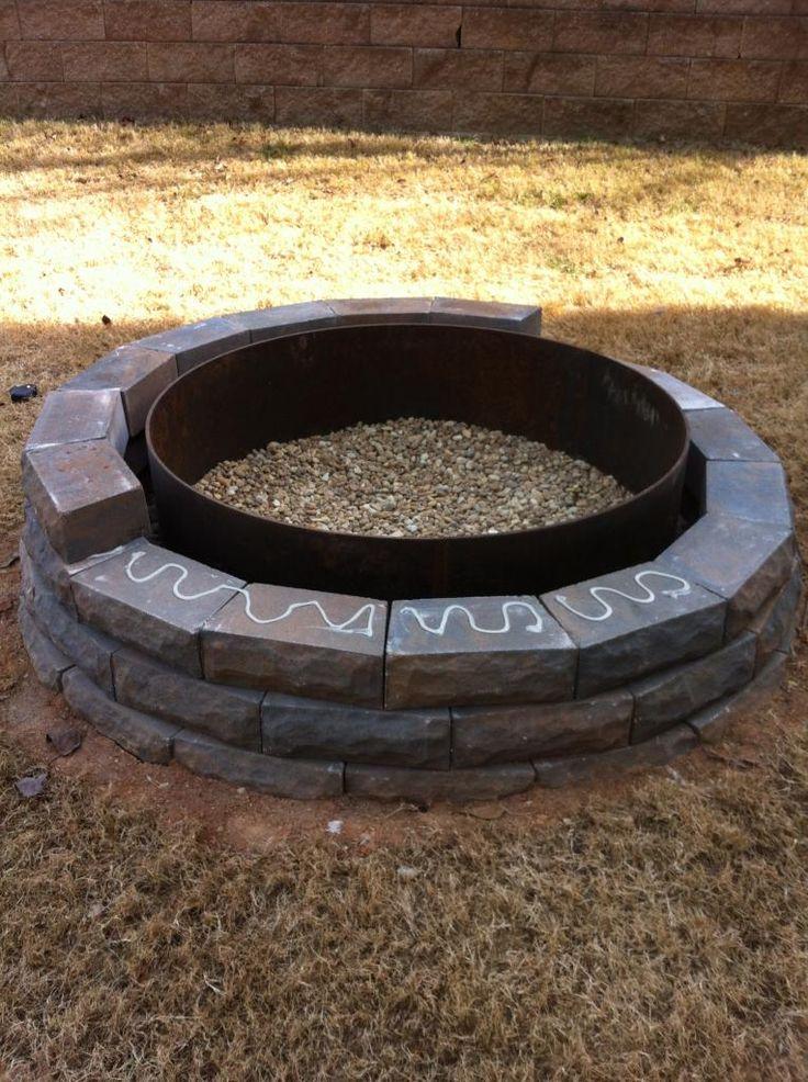 Building a Fire Pit | bowerpowerblog.com