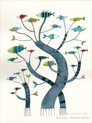 Simona Dimitri: Guest Books, Life, Ideas Sources, Trees Of Life, Fish Trees, Wacky Trees, Book W Butterflies, Natural Inspiration