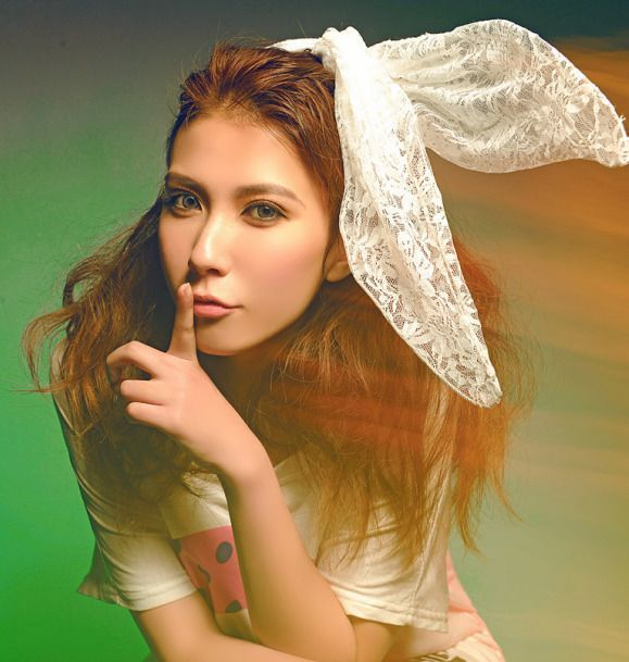 lady gaga pizzo bianco coniglio orecchie bande di capelli foto puntelli