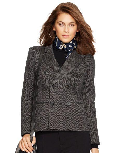 Cotton-Wool Herringbone Jacket - Polo Ralph Lauren Jackets - RalphLauren.com