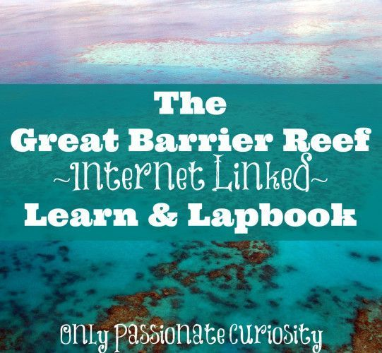 The Great Barrier Reef {Learn and Lapbook Printable} - An internet linked mini-unit with interactive notebook elements for 3rd-5th grade students.