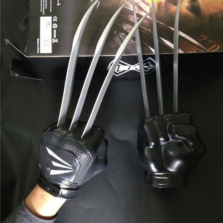 2015 Movie ⊰ X-MEN The Wolverine claws Wolf Paw Gloves ₪ 1 pcs/set Boxed PVC Figure Cosplay Toy (0_*) 2015 Movie X-MEN The Wolverine claws Wolf Paw Gloves 1 pcs/set Boxed PVC Figure Cosplay Toy (0_^)