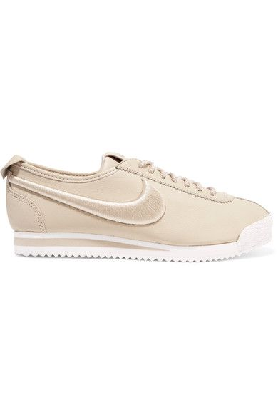 Nike - Cortez 72 Si Embroidered Leather Sneakers - Beige - US7