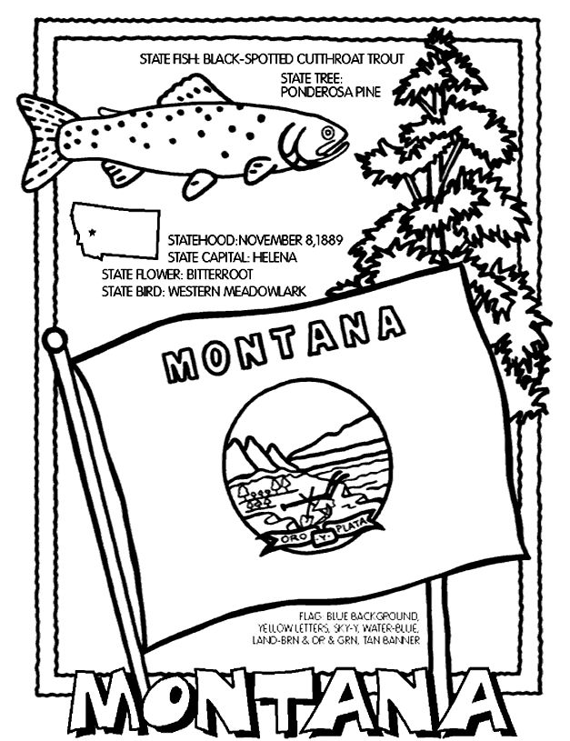 Montana State Symbol Coloring Page By Crayola Print Or Color Online