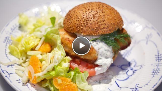 Visburger met dillesaus - De Makkelijke Maaltijd | 24Kitchen