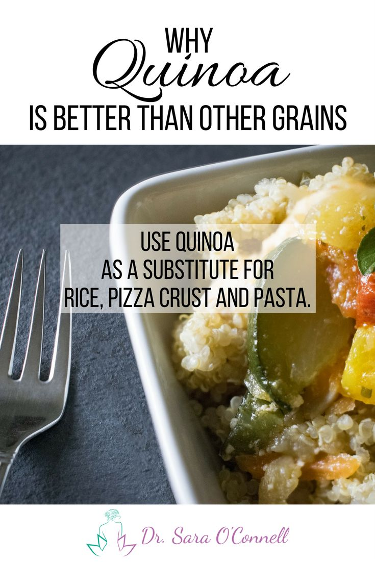 One of the biggest keys to achieving optimal health is eating real foods. Foods free from chemicals, added preservatives, artificial sweeteners and other harmful fillers which may not even be listed on the label.  Quinoa is one of my favorites! It can be used as a grain replacement and is high in healthy fats, antioxidants and is a complete protein, which means it has all 9 essential amino acids.   I use it as a substitute for rice, pizza crust and pasta.