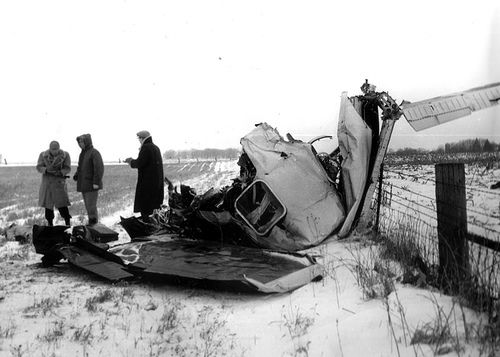 """The Day the Music Died"", Buddy Holly, Ritchie Valens, and The Big Bopper all die in a plane crash in Iowa. (February 3, 1959)"