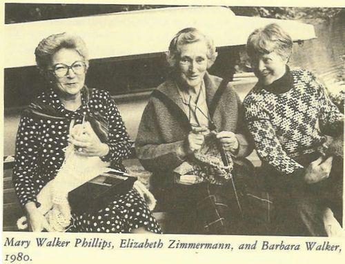 Our Icons of Knitting....Mary Walker, Elizabeth Zimmermann, Barbara Walker by spiden001, via Flickr