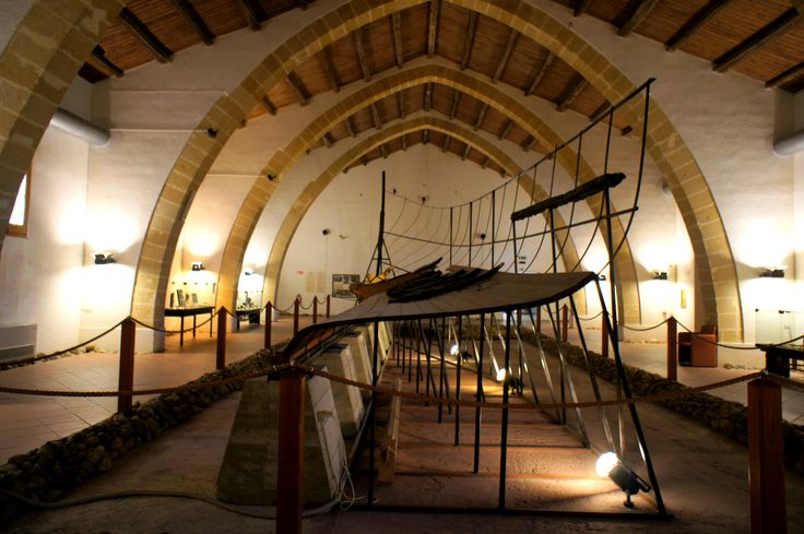 #Marsala, Museum Baglio Anselmi with a Punic boat