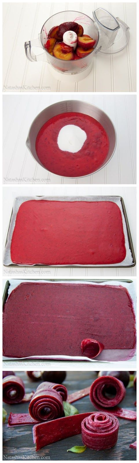 How to Make Plum Fruit Leather, sweet since I have a bunch of left over plums from my plum cravings!
