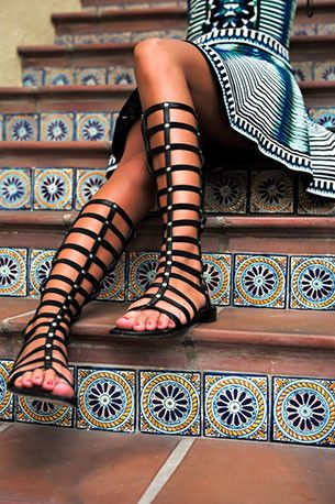 Andrea Tall Gladiator Sandals - Black   Daily Chic, How would you style these? http://keep.com/andrea-tall-gladiator-sandals-black-daily-chic-by-daily_chic/k/0sJHTjgBF3/