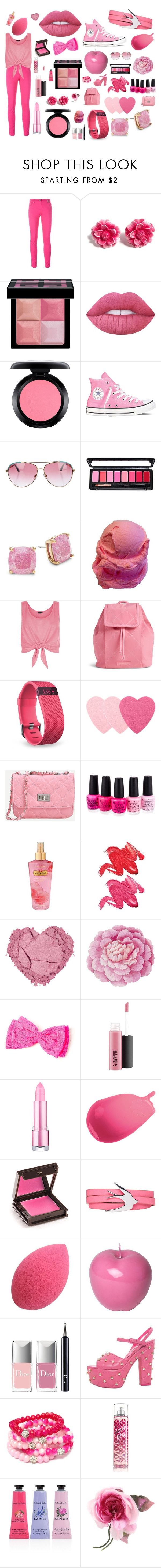"""""""pretty life"""" by the-pink-poppy on Polyvore featuring Kenzo, Tarina Tarantino, Givenchy, Lime Crime, MAC Cosmetics, Converse, Minnie Rose, Kate Spade, New Look and Vera Bradley"""