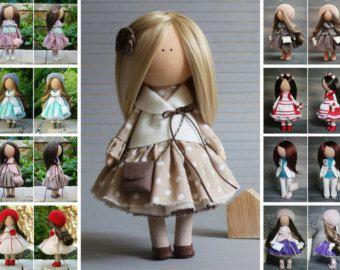 Art doll handmade dark grey blonde by AnnKirillartPlace on Etsy