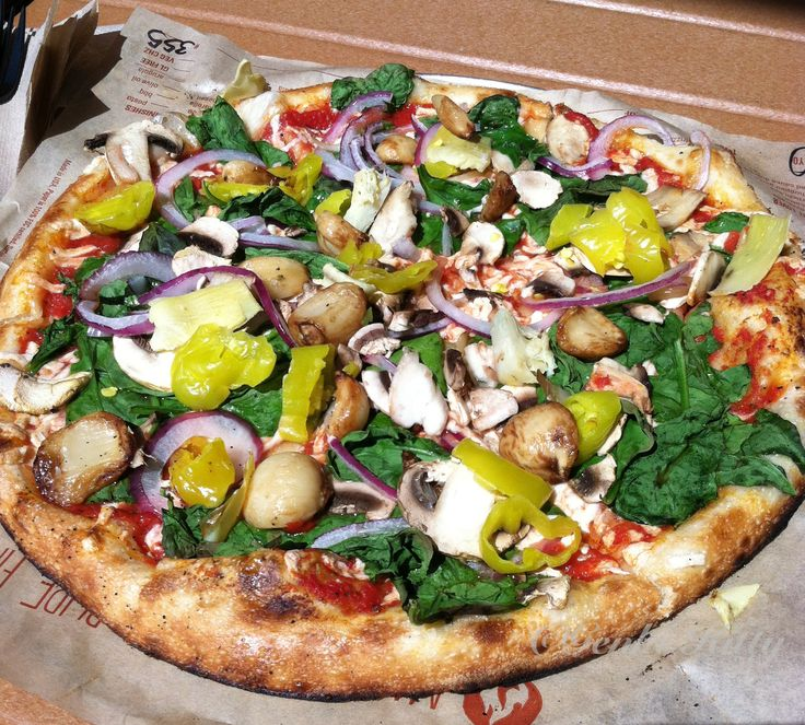 Vegan Pizza from Blaze Pizza in South Bend, Indiana