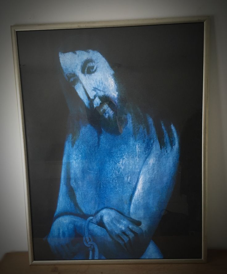 My collection - serigraphing from the painting blue Christ / by Hendrik Wiegersma