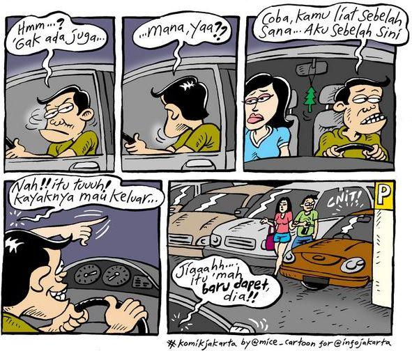 Mice Cartoon, Info Jakarta September 2014: Cari Parkiran