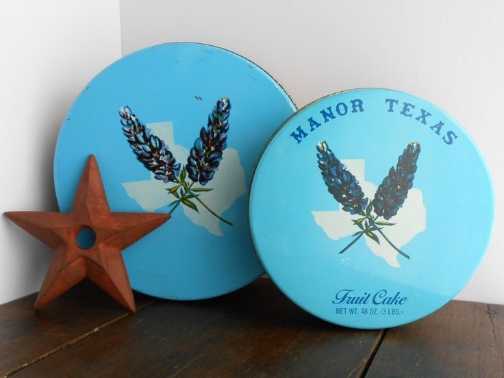 A personal favorite from my Etsy shop https://www.etsy.com/listing/238719405/vintage-tins-sale-manor-texas-fruit-cake