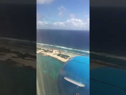 Flying into Majuro, Marshall Islands
