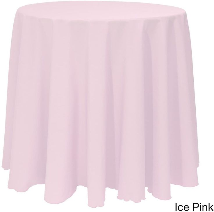 Christmas Solid Round Bright Color Durable Ice Pink Tablecloth Decor 90 Inches #Christmas #IcePink #BrightColor #SolidRound #Tablecloth #Decor #Seasonal #HomeDecor #ChristmasDecor #HolidayDecor #Shopping #HolidayAccents