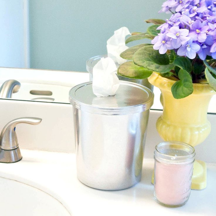 Clean Your Bathroom in No Time With These DIY Wipes: Keep your bathroom sparkling clean with easy DIY wipes that also look lovely on the counter.
