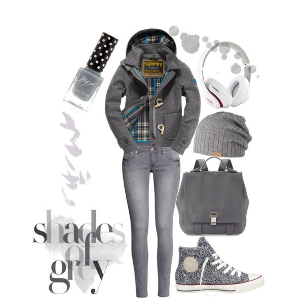 """""""Shades Of Grey"""" by louiseenorris on Polyvore"""