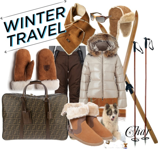 """winter travel"" by thefarm ❤ liked on Polyvore"