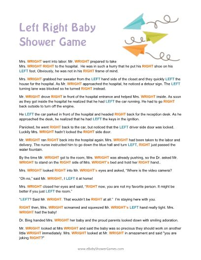 printable left right baby shower story game steph 39 s sprinkle