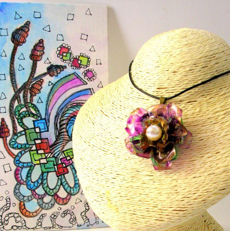 rosas de cha - #206 eco friendly recycled unique jewellery necklace