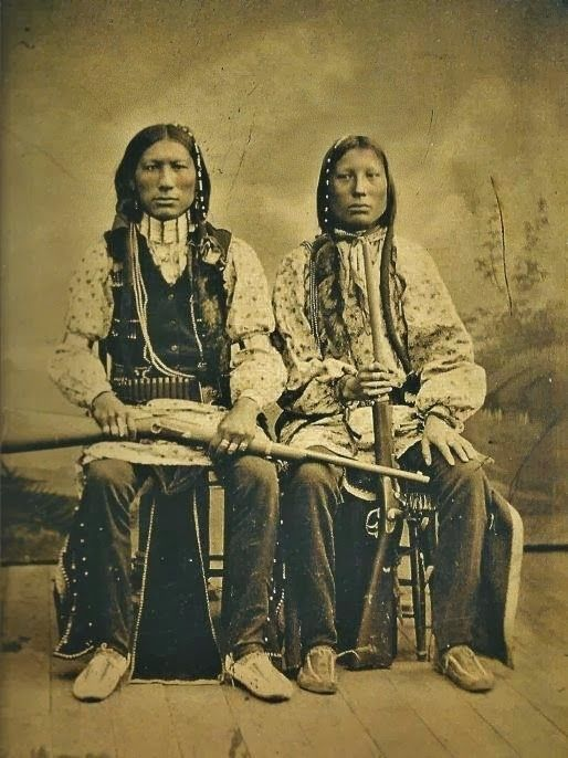 Two Cheyenne Indian Warriors: