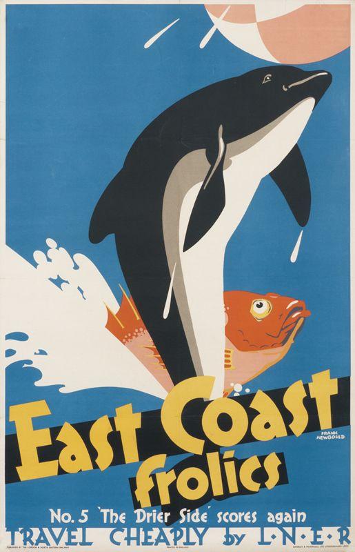 East Coast Frolics No. 5 (porpoise) by Newbould, Frank   Shop original vintage posters online: www.internationalposter.com