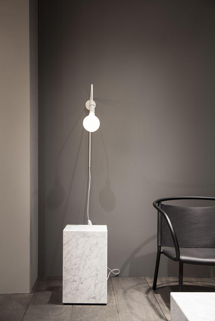 "Menu | IMM Cologne 2016 ""Modernism Reimagined""  product:  Tribeca Lamp Designer: Søren Rose Studio  Product: Afteroom Lounge Chair Designer: Afteroom Studio  Product: Marble Block Table Designer: Norm Architects  Photo Credit: Jonas Bjerre Poulsen"