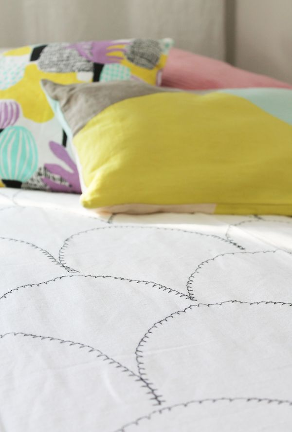 DIY bedspread for little girls room.