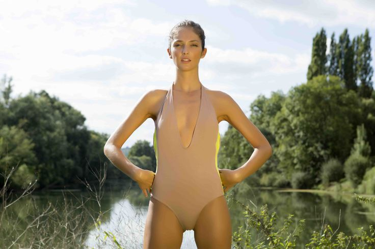 Organic beige & anis ONE PIECE SWIMSUIT in the nature Be happy, Be sexy, be organic, be a LUZTIQUE www.luzcollections.com