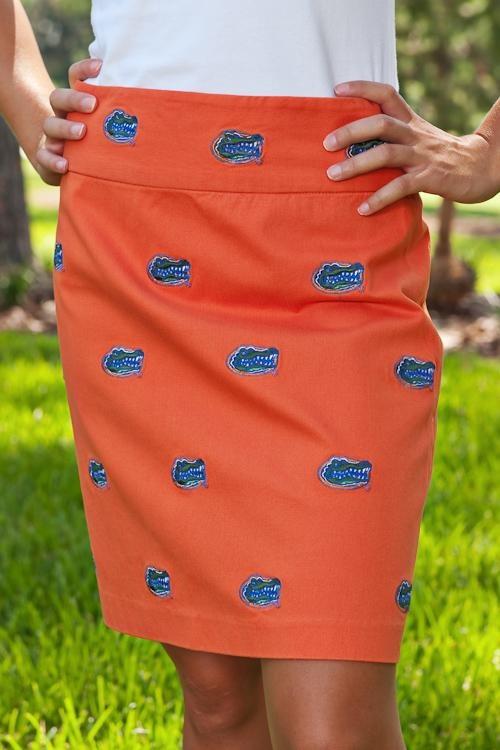 Team spirit skirt. Go Gators!