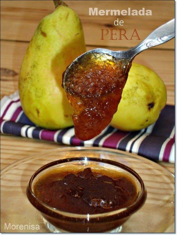 Mermelada de Pera con Azúcar Moreno y Canela