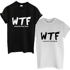 This wheres the food wtf t-shirt is Made To Order, one by one printed so we can control the quality. We use DTG Technology on to the shirt.