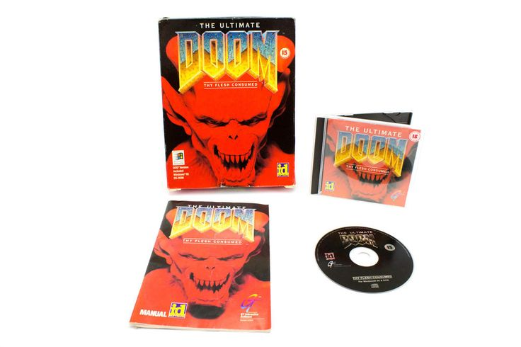 The Ultimate Doom Thy Flesh for PC by id Software, 1995, Horror, Shooter, Sci-Fi