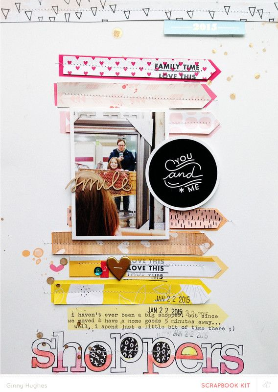 #papercraft #scrapbook #layout - shoppers by ginny at @studio_calico