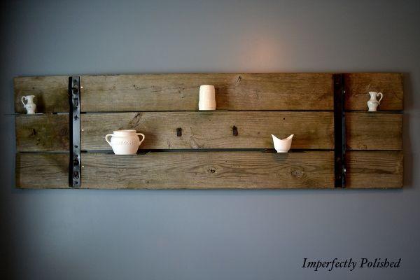 Barn Door shelf #wood #shelf #door @Danielle Baker- this looks like your style? So pretty!