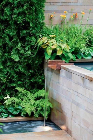 Beautiful Kein Platz f r einen gro en Teich Kein Problem Ein Quellstein ein kleines Becken
