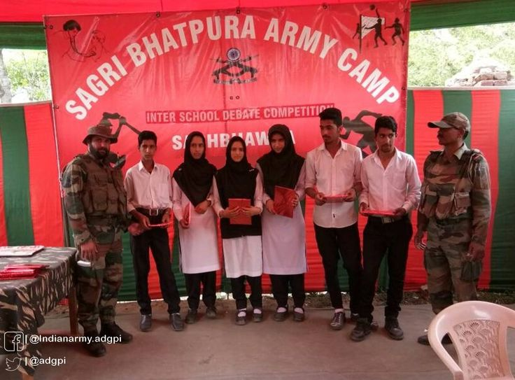 Army camp Sagri Bhatpura  organised Inter School Debate Competition. Six schools debated on Role of Sports in Life #http://IndianArmypic.twitter.com/1f2choA32o #IndianArmy #Army