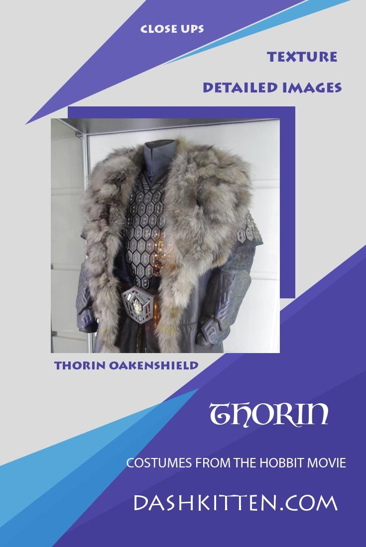 Cosplay and costume creators will love seeing the wealth of costume detail in our Thorin costume report from a recent Hobbit movie display. Let us bring our magnifying glass to bear on the luxurious and sumptuos costume!