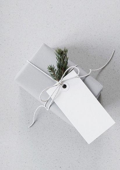 cute grey gift wrap