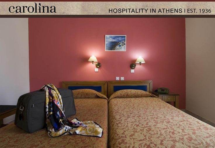 Standard Twin Room at Carolina Hotel Athens Greece