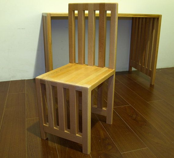 Wooden modern kids chair by MustHaveRo on Etsy