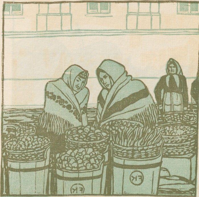 F. König, Gemüse-Verkäuferinnen vom Wiener Naschmarkt, Ver Sacrum, Volume 1, Number 11, 1 June 1903
